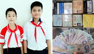 Hành động đẹp của 2 học sinh Tiểu học