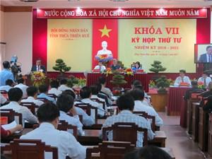 HĐND Thừa Thiên- Huế khai mạc kỳ họp thứ 4