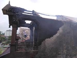 Hiện trường tan hoang sau vụ cháy ở Tây Sơn