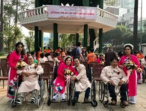 Hỗ trợ lễ cưới cho 50 cặp thanh niên khuyết tật, có hoàn cảnh khó khăn