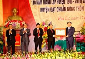 Hoa Lư - huyện nông thôn mới đầu tiên của cả nước theo tiêu chí mới