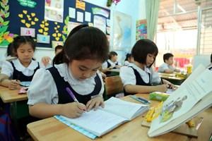 Học sinh tiểu học vẫn áp lực với bài tập về nhà