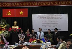 Hội LHPN TP HCM Thành phố Hồ Chí Minh và Hội LHPN Thủ đô Viêng Chăn ký kết biên bản ghi nhớ
