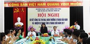 Hội nghị công tác thi đua khen thưởng các tỉnh Bắc Trung bộ