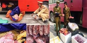 Hơn 1 tạ thực phẩm không rõ nguồn gốc bị bắt tại Thanh Hóa