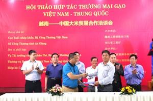 Hợp tác thương mại gạo Việt Nam – Trung Quốc