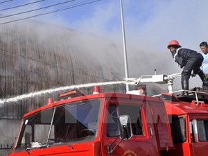 Hưng Yên: Cháy kho chứa hàng, thiệt hại hàng tỷ đồng