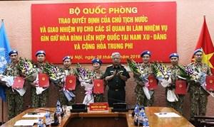 Chủ tịch nước cử 7 sĩ quan đi gìn giữ hòa bình Liên Hợp Quốc