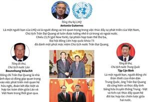 [Infographic] Nhiều lãnh đạo thế giới đánh giá cao Chủ tịch nước Trần Đại Quang
