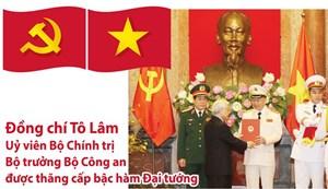 [Infographics] Bộ trưởng Bộ Công an Tô Lâm được thăng cấp bậc hàm Đại tướng