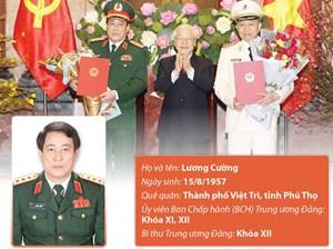 [Infographics] Ông Lương Cường được thăng cấp bậc hàm Đại tướng