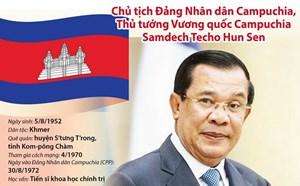 [Infographics] Tiểu sử Thủ tướng Campuchia Samdech Hun Sen