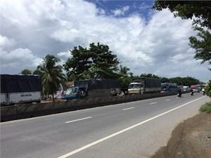 Kẹt xe nghiêm trọng tại trạm thu phí tuyến tránh thị xã Cai Lậy