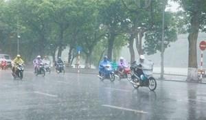 Một số địa phương có mưa dông