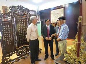 Khai mạc phòng trưng bày  cổ vật 'Gấm vóc vàng son thời Nguyễn'