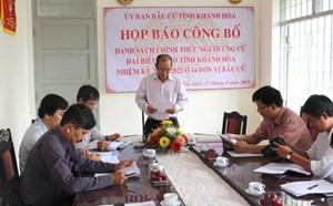 Khánh Hòa: Phân bổ các ứng cử viên ĐBQH, đại biểu HĐND tỉnh
