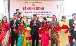 Khánh thành cầu dân sinh Cẩm Kim tại Hội An