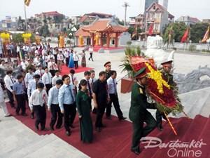 Khánh thành đền tưởng niệm các Anh hùng Liệt sĩ tại Chí Linh