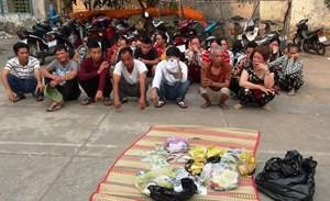 Kiên Giang: Bắt quả tang 28 đối tượng đánh bạc ở khu đất trống