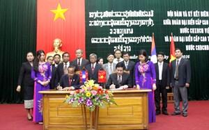 Ký kết Biên bản hợp tác giữa hai tỉnh Quảng Bình – Chăm-pa-sắc