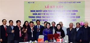 Ký kết NQLT giữa Tổng hội Y học Việt Nam với Bộ Y tế