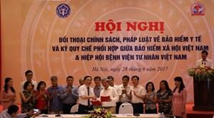 Ký kết quy chế phối hợp giữa BHXH Việt Nam và Hiệp hội bệnh viện tư nhân Việt Nam