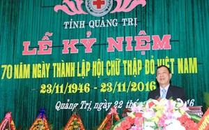 Kỷ niệm 27 năm ngày thành lập Hội Chữ thập đỏ tỉnh Quảng Trị