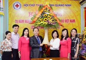 Lãnh đạo tỉnh Quảng Ninh chúc mừng Hội Chữ thập đỏ