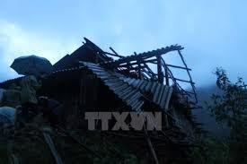 Lai Châu: Khẩn trương khắc phục hậu quả sau trận gió lốc