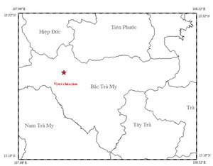 Lại động đất ở khu vực Bắc Trà My