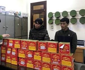 Lạng Sơn: Bắt 2 đối tượng vận chuyển trái phép gần 100 kg pháo lậu