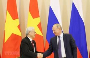Lãnh đạo cấp cao Việt Nam gửi điện mừng Quốc khánh Liên Bang Nga