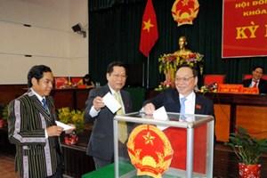 Lãnh đạo HĐND tỉnh Đắk Nông trúng cử với 100% phiếu bầu