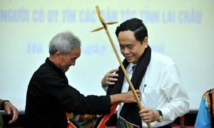 Lãnh đạo MTTQ Việt Nam tiếp đoàn già làng, trưởng bản Lai Châu
