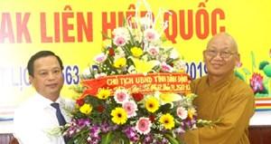 Lãnh đạo tỉnh Bình Định thăm, chúc mừng các tổ chức, chức sắc Phật giáo