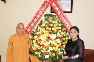 Lãnh đạo tỉnh Gia Lai chúc mừng nhân dịp Phật đản