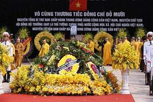 Lễ an táng nguyên Tổng Bí thư Đỗ Mười