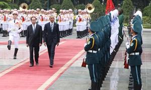 Lễ đón Tổng thống Hoa Kỳ Barack Obama thăm chính thức Việt Nam