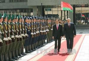 Lễ đón trọng thể Chủ tịch nước Trần Đại Quang