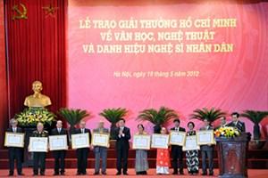 Lễ trao Giải thưởng về VHNT tổ chức vào ngày 19/5