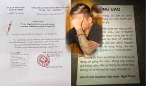 Công bố 'lý do đặc biệt' khiến Liveshow của ca sĩ Tuấn Hưng bị hoãn đột ngột