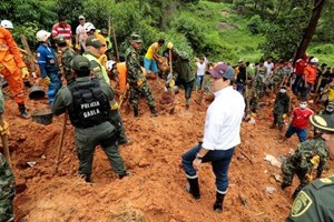 Lở bùn ở Colombia, nhiều người thiệt mạng