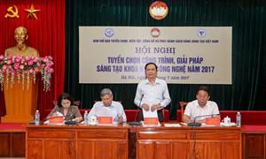 Lựa chọn 72 công trình đưa vào Sách Vàng Sáng tạo Việt Nam năm 2017