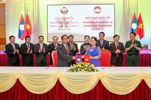 Mặt trận 10 tỉnh biên giới Việt Nam- Lào ký giao ước thi đua