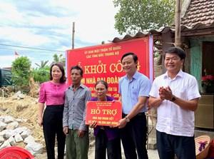 Mặt trận các tỉnh Bắc Trung Bộ hỗ trợ xây dựng nhà Đại đoàn kết tại Hà Tĩnh