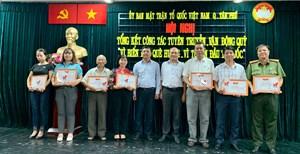 Mặt trận quận Tân Phú tích cực vận động Quỹ 'Vì biển đảo quê hương, vì tuyến đầu Tổ quốc'