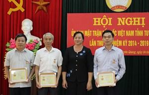 Mặt trận Tuyên Quang triển khai nhiệm vụ 6 tháng cuối năm 2018