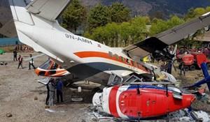 Máy bay đâm phải trực thăng tại 'sân bay nguy hiểm nhất thế giới' gần đỉnh Everest