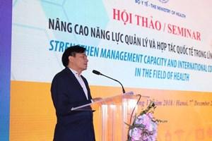 Mở rộng hợp tác quốc tế trong lĩnh vực y tế