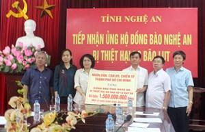 MTTQ Nghệ An tiếp nhận 1,5 tỷ đồng ủng hộ do bão số 10